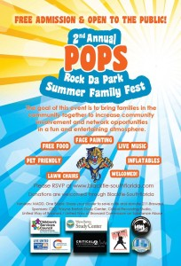 2nd POPS Rock Da Park flyer